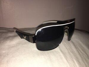 Emporio Armani Black White Sunglasses