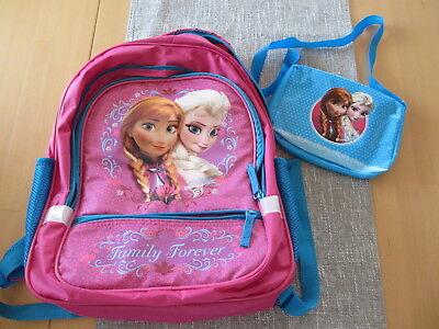Disney frozen Elsa und Anna großer Rucksack und kleine Tasche ()