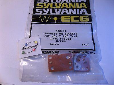 Transistor Socket Ecg431 Philips-ecg Md-17 Tc-9 Phenolic 116 Thick - Nos Qty 2
