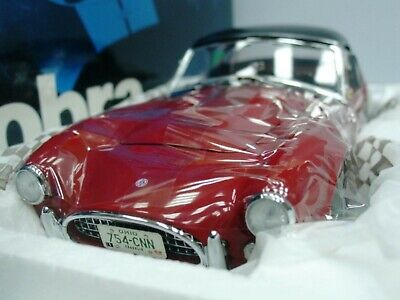 WOW EXTREMELY RARE AC Shelby Cobra 289 V8 Hard Top 1963 Red Black 1:18 Exoto-260