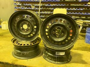 4 steel rims 14x6 with 5x100mm bolt pattern