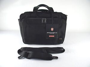 New* Victorinox Swiss Army Architecture 2.0 Parliament Laptop Briefcase - Black