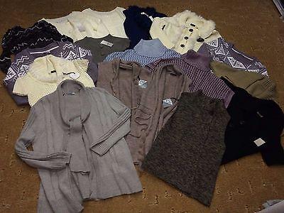 Damen Strick Pullover Strickjacken Posten Konvolut 17 Stück verschiedene Größen