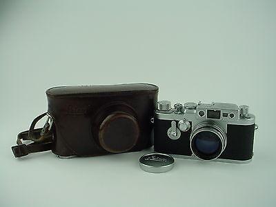 LEITZ, LEICA IIIg, #848468, 50mm f2 SUMMITAR #679474, & EVEREADY CASE - CLEAN