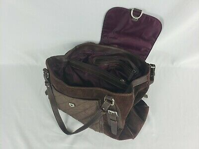 Tommy Hilfiger Brown Corduroy Messenger Cross Body Sling Purse Bag Corduroy Purse Bag