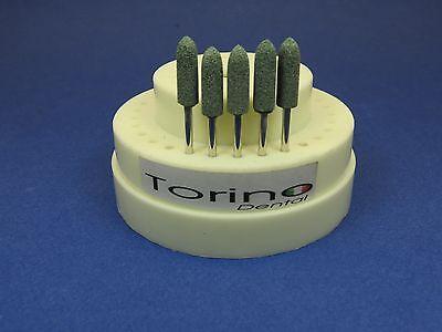 Dental Lab Acrylic Burs Conical Trunk Hp Green Kit 5 Pcs Torino