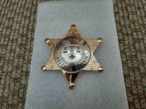 ReplicaRosco---- Dukes of Hazzard TV Show----Hazzard County prop Badge
