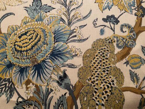 7YD KRAVET Barclay Butera BARDONHILL Bayou 100% Linen Botanical Fabric $1400Reta