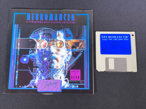 Computer Games - Commodore Amiga Neuromancer AS-IS PC Computer Video Game w/ Manual