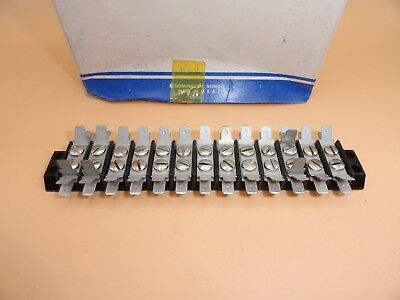 12 Position Terminal Block Strip Wmulti Tab Connections Lot Of 12