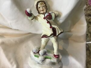 "Royal Worcester Fine Bone China ""December"" figurine"