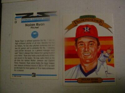 1982 #  13 Nolan Ryan Donruss Pitcher Houston Astros Diamond - Astros Pitcher