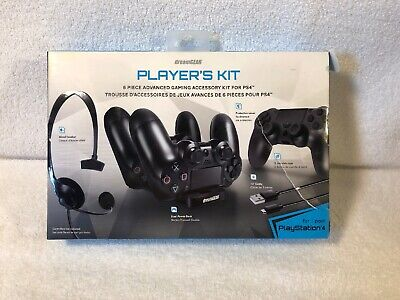 GreamGEAR 6 in 1 Player Kit Black for PS4 DGPS4-6435 Playstation 4 Accessory Kit