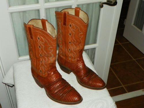 Dan, Post, Brown, Lizard, Skin, Cowboy, Western, Boots, Mens, size, 10.5, B, narrow