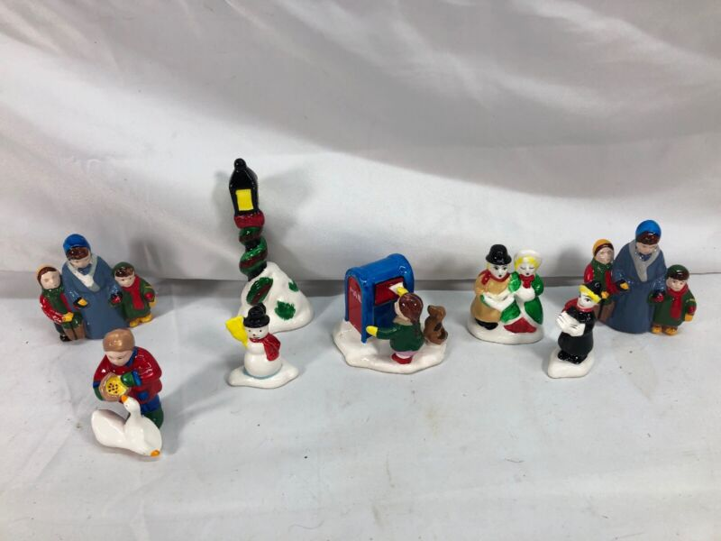 Dept 56 Christmas Village Town People Lot 8 Total Figurines