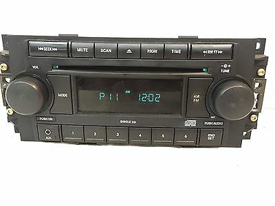 Dodge Chrysler Jeep radio single CD 04-09 REF 5064173AK Aux Durango Patriot Ram
