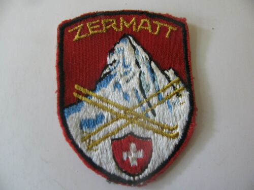 VINTAGE SKI PATCH ZERMATT SWITZERLAND MATTERHORN MT RESORT EMBROIDERED FREE SHIP