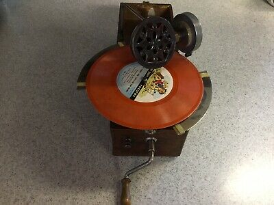 Rare Vintage Peter Pan Gramophone Record Player Phonograph