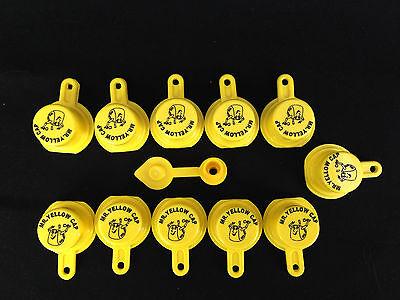 11x Blitz Yellow Spout Caps For Gas Can Spouts 900302 900092 900094 - Free Vent