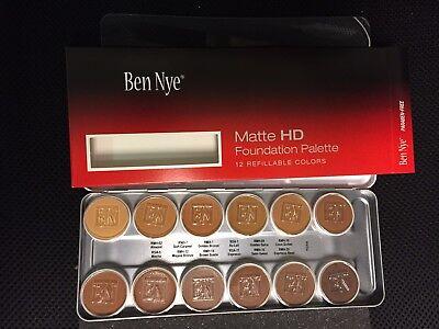 Ben Nye Matte HD Foundation 12 Color Essential Palette BFP-12 for Olive / Brown