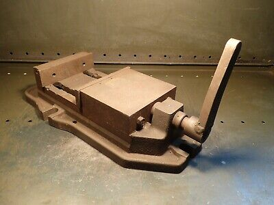 6-12 Mill Milling Machinist Vise Jaws Open 5-14 Used In Good Condition