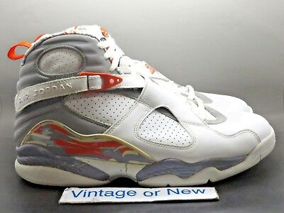 Air Jordan VIII 8 White Stealth Orange Blaze Retro 2007 sz 14