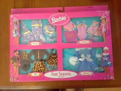 Barbie Four Seasons Fashion Gift Pack Spring Summer Fall Winter 1999 Arcotoys
