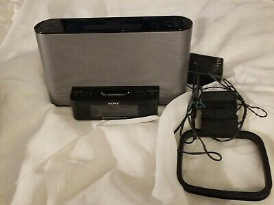 Sony Dream Machine ICF-CS10iP Alarm Clock AM/FM Radio w/iPod iPhone Dock Remote