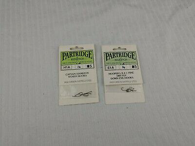 Qty 10 Partridge Hooks CS16U//1 Patriot Salmon Up Eye Single Fly Hook
