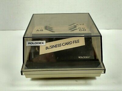 Rolodex Business Card File S-310c With Dividers And Card Holders