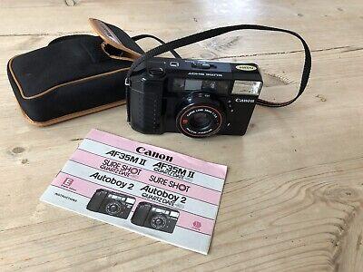 Canon AF35M II   SURE SHOT   38mm f/2.8   MINT Condition   35mm FILM Camera