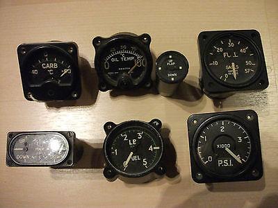 7 Flugzeuginstrumente Aircraft Instruments Gauges Royal Air Force RAF