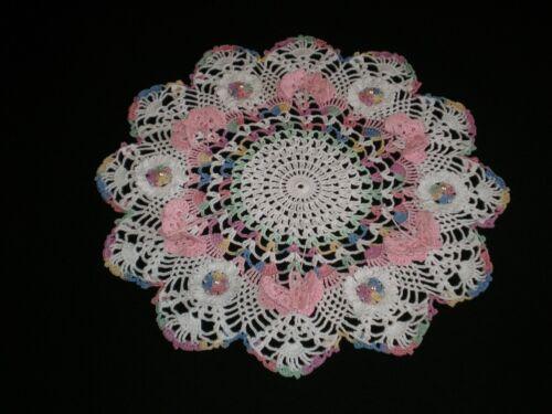 New Handmade Crocheted Doily Flowers/Butterflies Pineapples