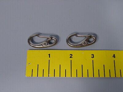 Pair of Wichard 2479 Stainless Steel Snap Hook L:35mm - 1 1/2 in. Wichard Stainless Steel