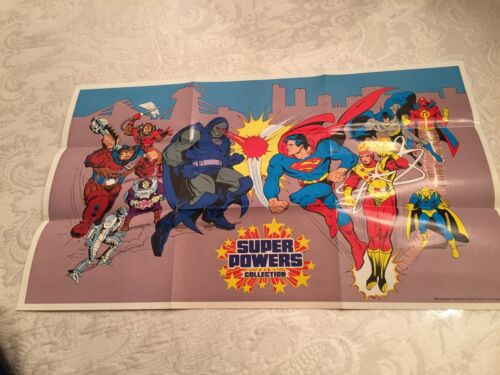 "VINTAGE1985 DC KENNER SUPER POWERS   ""   POSTER    ""  NEW UNUSED."