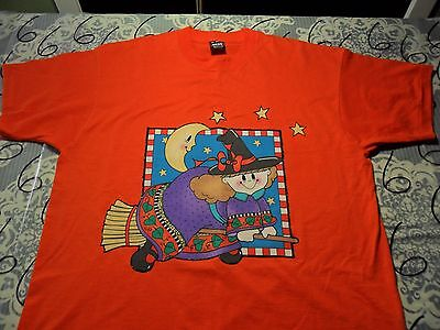 XL- Iron On Cloth Halloween Print Vintage Fruit Of The Loom Best Brand T-