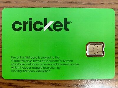 Cricket 4G LTE Nano SIM Card 4FF SGMN4004 GSM - Good For Activation - Brand New