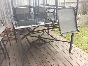 Aluminum Patio Set (With 6 chairs)
