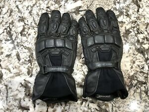 Leather Black Motorcycle Gloves