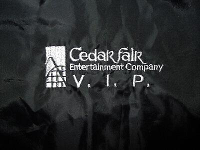 Cedar Point Vip Windbreaker Nylon Jacket Fair Amusement Park Roller Coaster L Xl