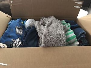 Box of boy clothes 3-9 months