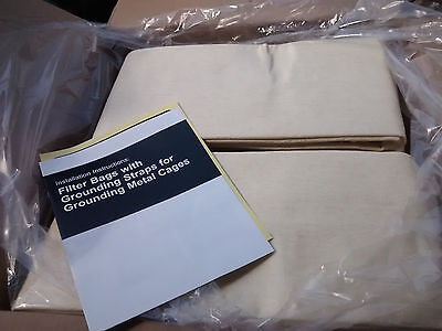 20 Flexkleen Dust Collector Filter Bags Grounding Strap 6 Id X 99 Long