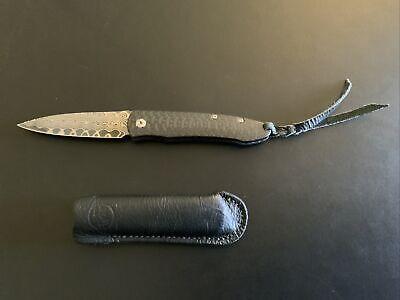 William & Henry ZDP-189 HRC 67 Damascus Pocket Knife Rare Perfect
