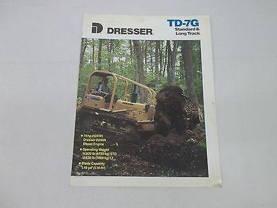 Dresser Td-7g Standard Long Track Crawler Dozer Sales Brochure
