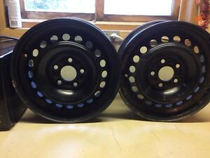 "4 Ford 15"" steel wheels 5x108"