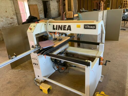 Vitap :Linea 42N Double Row Line Boring Machine w/two 21 spindle boring heads