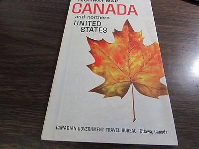 CANADA HIGHWAY MAP AND NORTHERN UNITED STATES - 1963  MAP