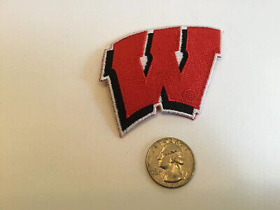 "Wisconsin Badgers Vintage Embroidered Iron on Patch 2.75"" X 2.25"""