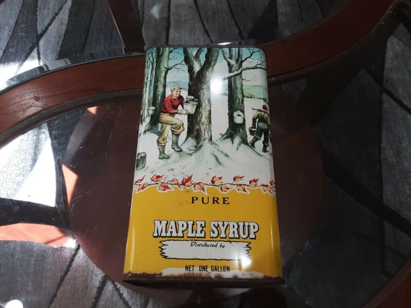 Vintage One Gallon Pure Maple Syrup Can
