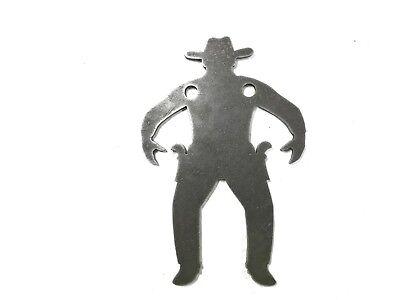 "AR500 Cowboy Silhouette Steel Target Gong 12""X 8""X 5/8"""